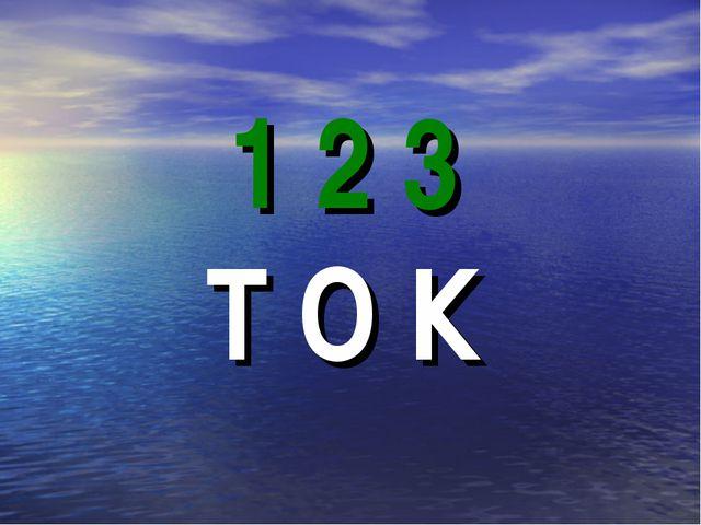 1 2 3 Т О К