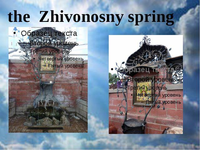 the Zhivonosny spring