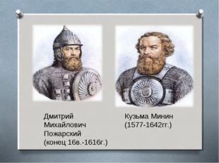 Дмитрий Кузьма Минин Михайлович (1577-1642гг.) Пожарский (конец 16в.-1616г.)