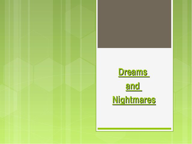 essay on dreams and nightmares Welcome to the website for dreams and nightmares magazine dn is a print magazine of science fiction and fantasy poetry dn was founded in dreams and nightmares 89, may 2011, is now available the latest edition of one of the oldest extant genre poetry zines is full of brand-new poetry.