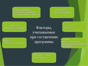 целевые ориентиры и ценностные основания деятельности МОУСОШ №16 состояние з