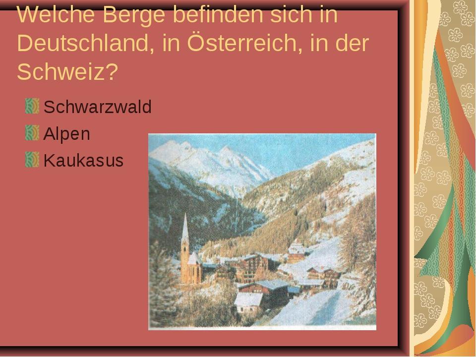 Welche Berge befinden sich in Deutschland, in Österreich, in der Schweiz? Sch...