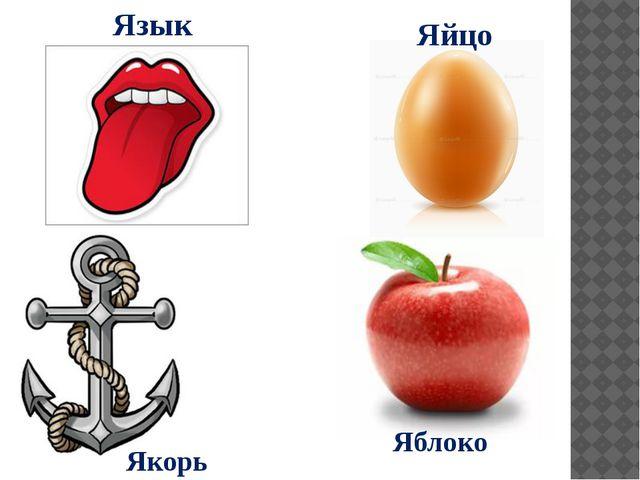 Яблоко Яйцо Язык Якорь
