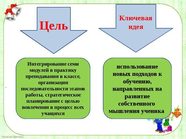 . Интегрирование семи модулей в практику преподавания в классе, организация п...