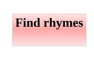 Find rhymes