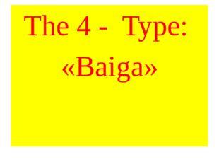 The 4 - Type: «Baiga»