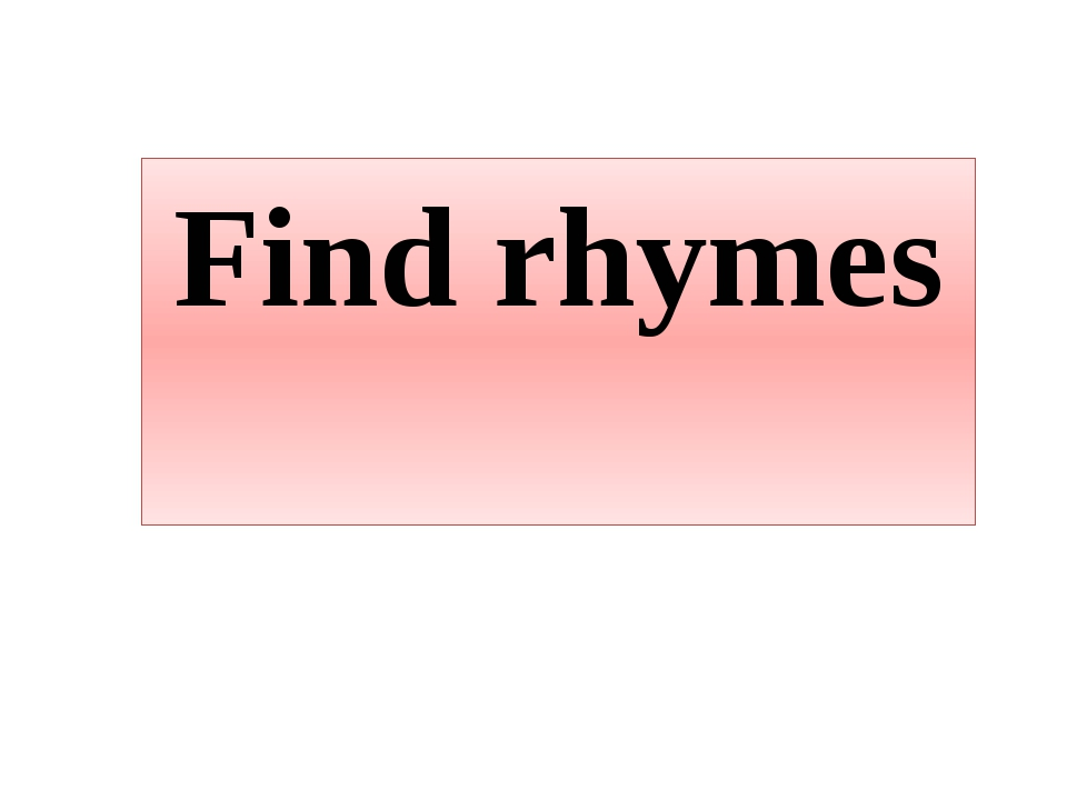 Find rhymes