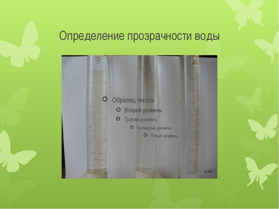 Определение прозрачности воды