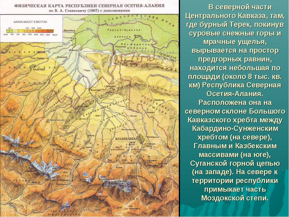 В северной части Центрального Кавказа, там, где бурный Терек, покинув суровы...