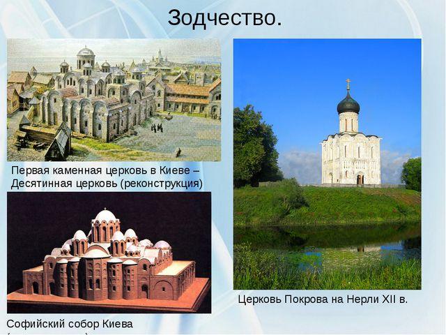 Зодчество. Первая каменная церковь в Киеве – Десятинная церковь (реконструкци...