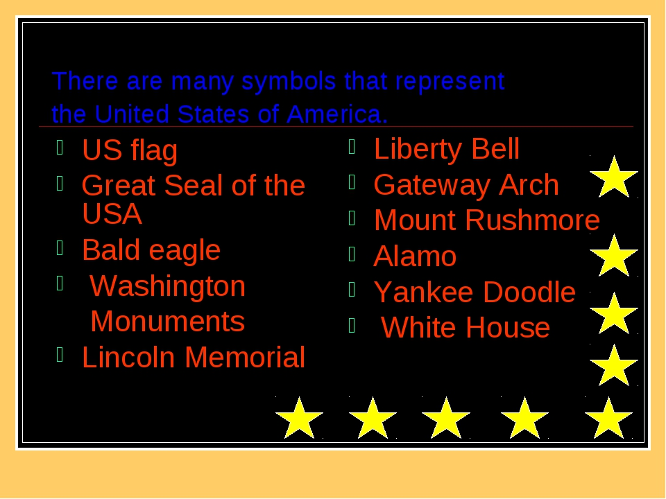 There are many symbols that represent the United States of America. US flag G...