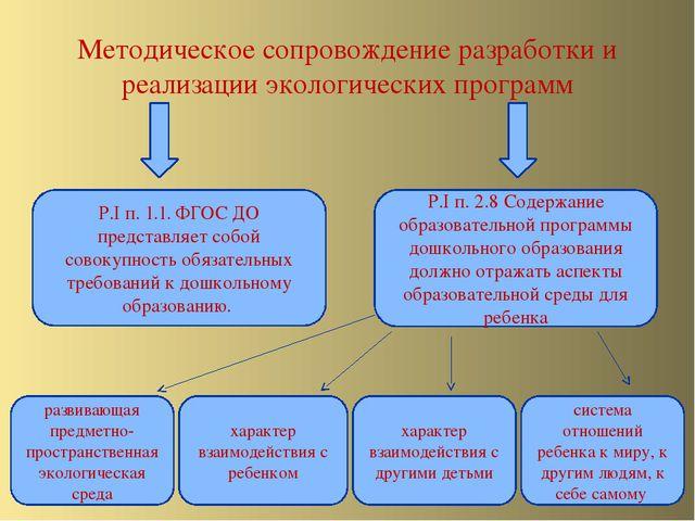 Методическое сопровождение разработки и реализации экологических программ Р.I...