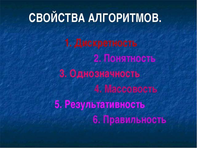 4. Результативность. Выполнение алгоритма должно привести к получению опреде...