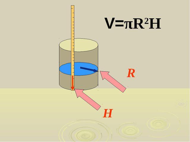 H R V=πR2H