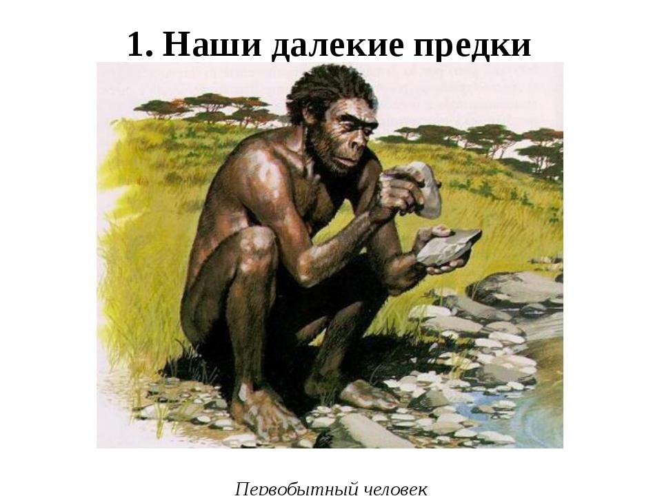 1. Наши далекие предки Первобытный человек