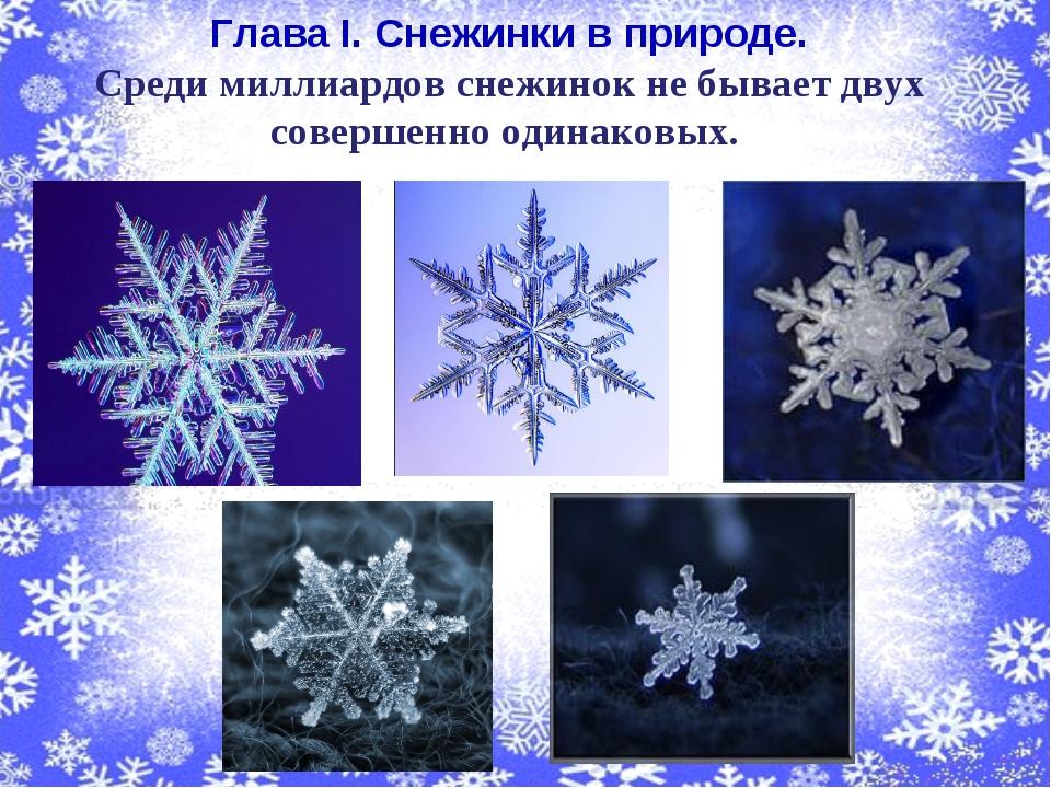 Глава I. Снежинки в природе. Среди миллиардов снежинок не бывает двух соверш...