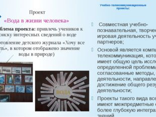 Учебно-телекоммуникационные проекты: Совместная учебно-познавательная, творч