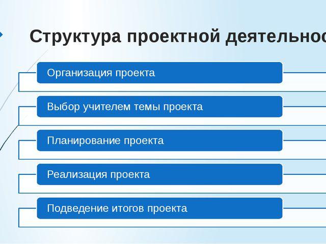 Структура проектной деятельности:
