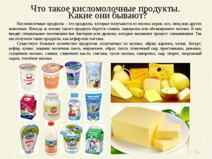 Что такое кисломолочные продукты. Какие они бывают? Кисломолочные продукты –