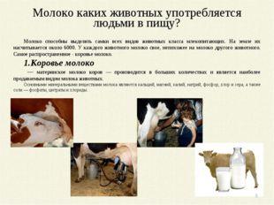 Молоко каких животных употребляется людьми в пищу? Молоко способны выделять с