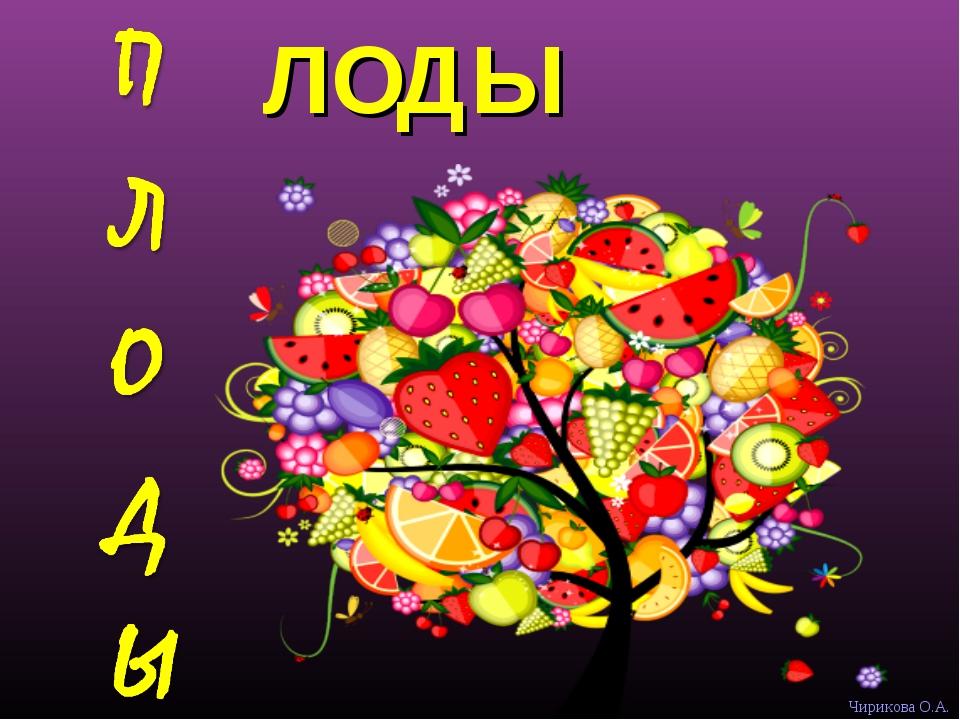 ЛОДЫ Чирикова О.А.