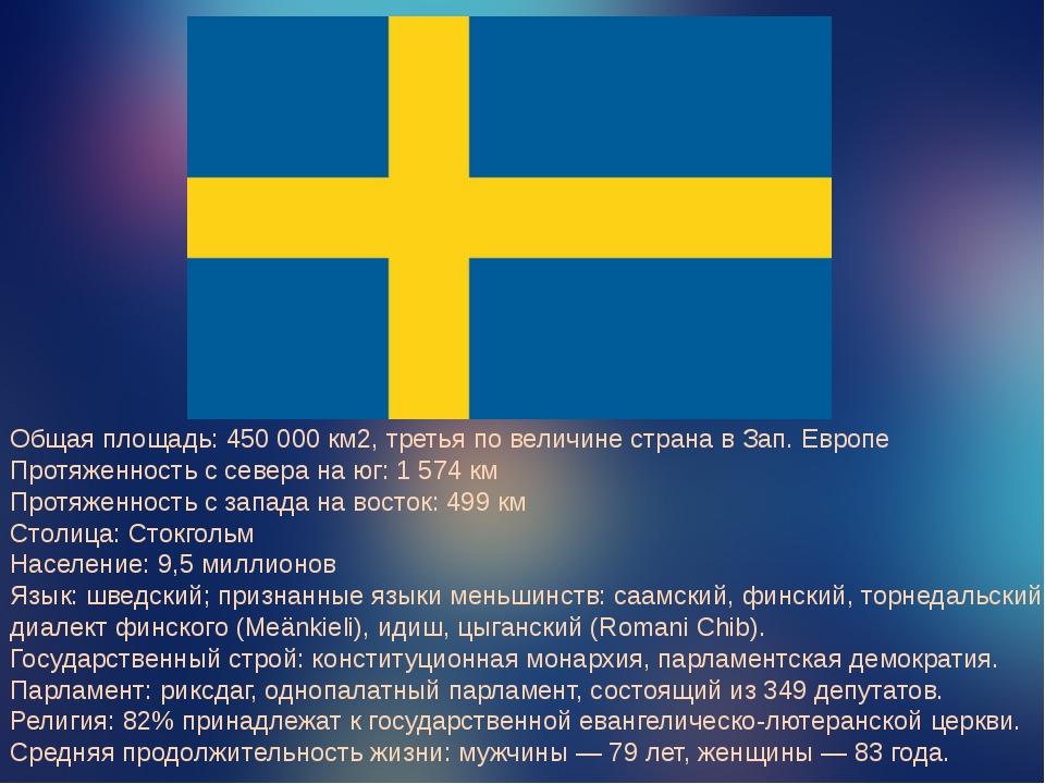 Общая площадь:450 000 км2, третья по величине страна в Зап. Европе Протяжен...