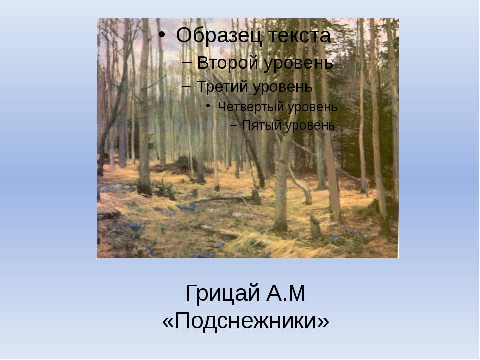Грицай А.М «Подснежники»