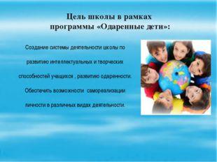 План работы с одаренными детьми 1.Выявление одаренных детей и особенности раб