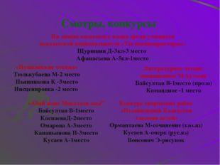 Участие в олимпиадах Призеры: Щуришина Светлана-1м (биология) Закранцов Игорь