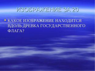 ИЗОБРАЖЕНИЕ ЗА 20 КАКОЕ ИЗОБРАЖЕНИЕ НАХОДИТСЯ ВДОЛЬ ДРЕВКА ГОСУДАРСТВЕННОГО Ф