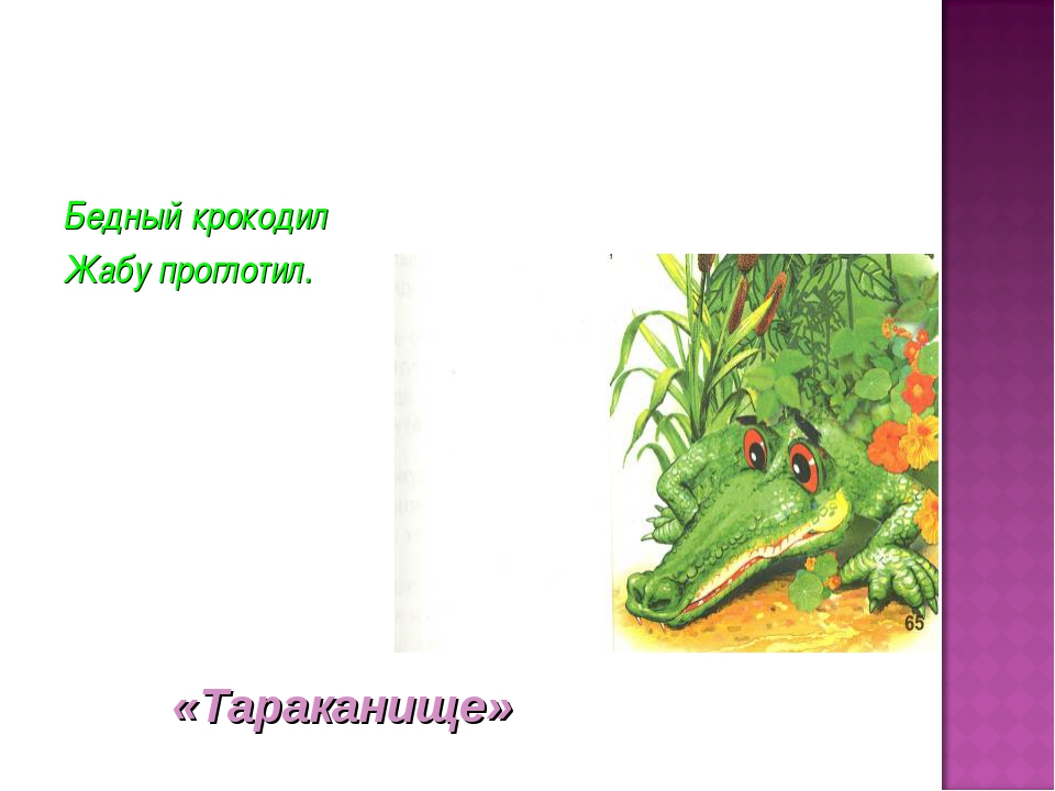 Бедный крокодил Жабу проглотил. «Тараканище»