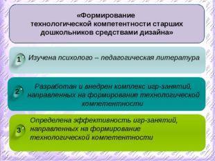 3 1 2 Изучена психолого – педагогическая литература Определена эффективность