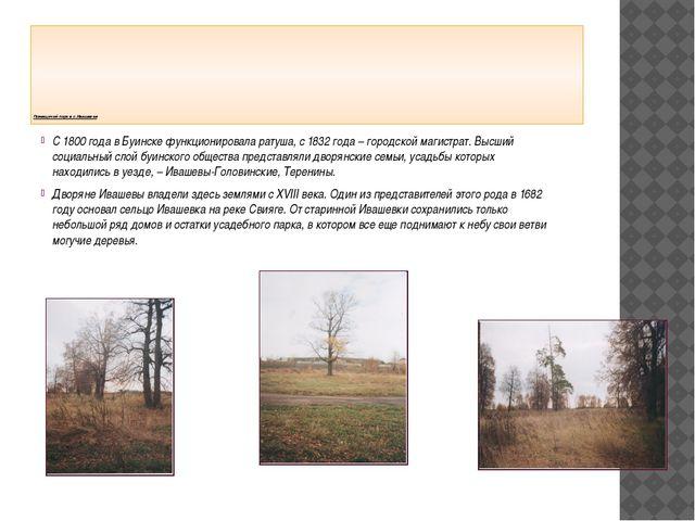 Помещичий парк в с.Ивашевке С 1800 года в Буинске функционировала ратуша, с...