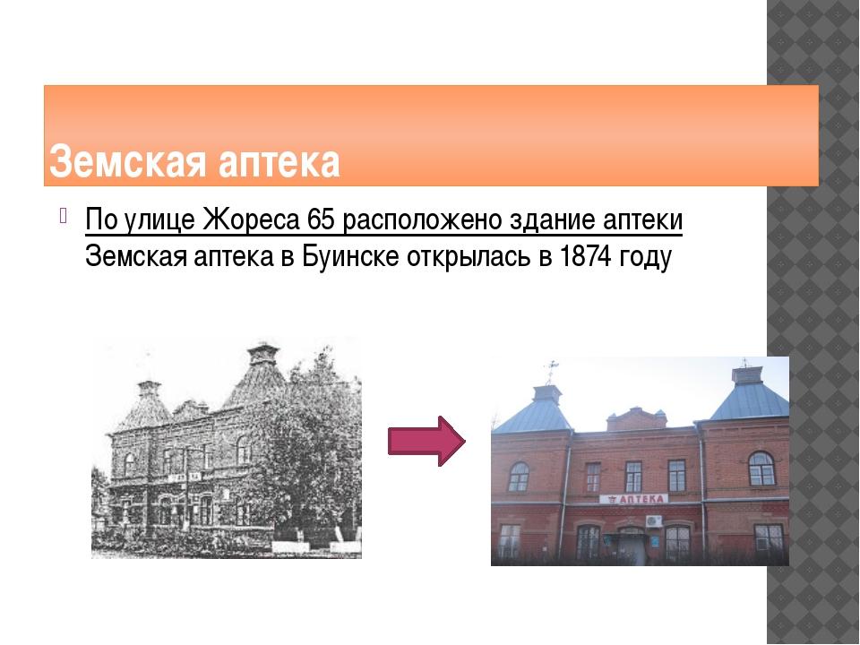 Земская аптека По улице Жореса 65 расположено здание аптеки Земская аптека в...