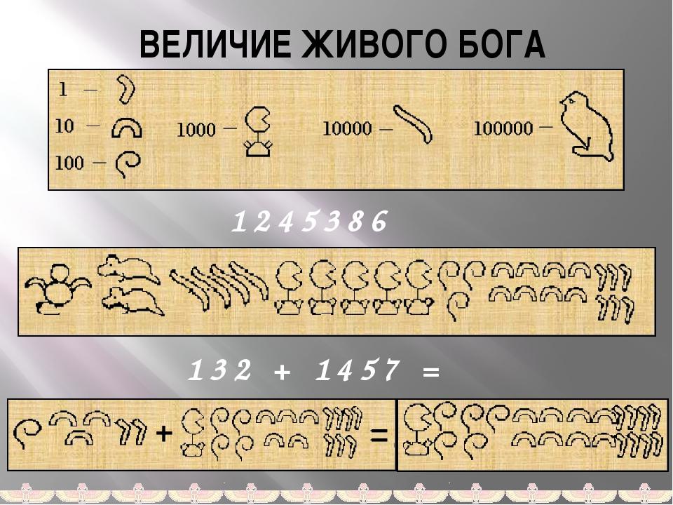 ВЕЛИЧИЕ ЖИВОГО БОГА 1245386 132 + 1457 = Запись ответа арабскими цифрами не п...