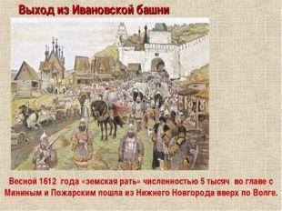 Выход из Ивановской башни Весной 1612 года «земская рать» численностью 5 тыся