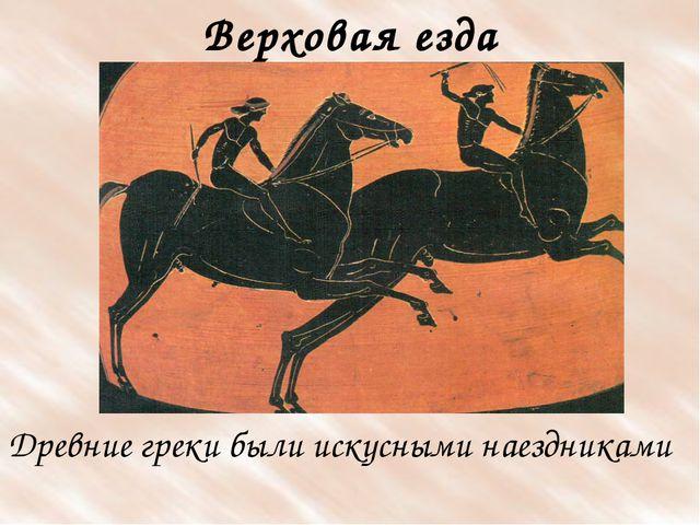 Древние греки были искусными наездниками Верховая езда