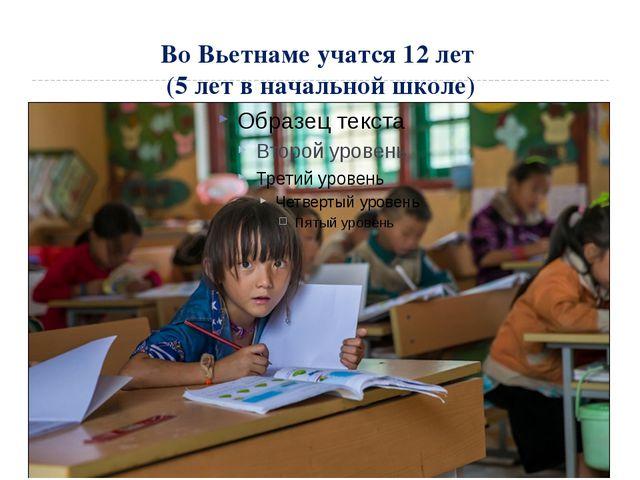 Во Вьетнаме учатся 12 лет (5 лет в начальной школе)