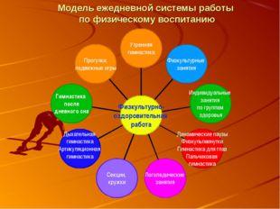 Модель ежедневной системы работы по физическому воспитанию