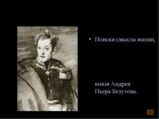 Лев Николаевич Толстой «Война и мир» Поиски смысла жизни, нравственные искани