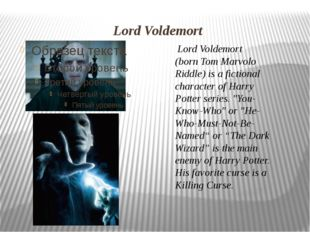 Lord Voldemort Lord Voldemort (bornTom Marvolo Riddle) is a fictional chara