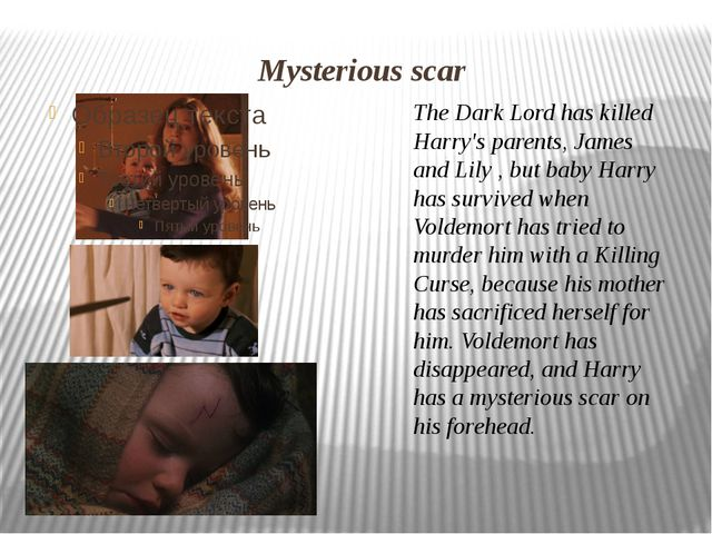 The Dark Lord has killed Harry's parents,James and Lily, but baby Harry has...