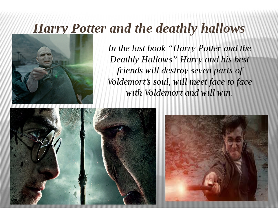 """Harry Potter and the deathly hallows In the last book """"Harry Potter and the D..."""