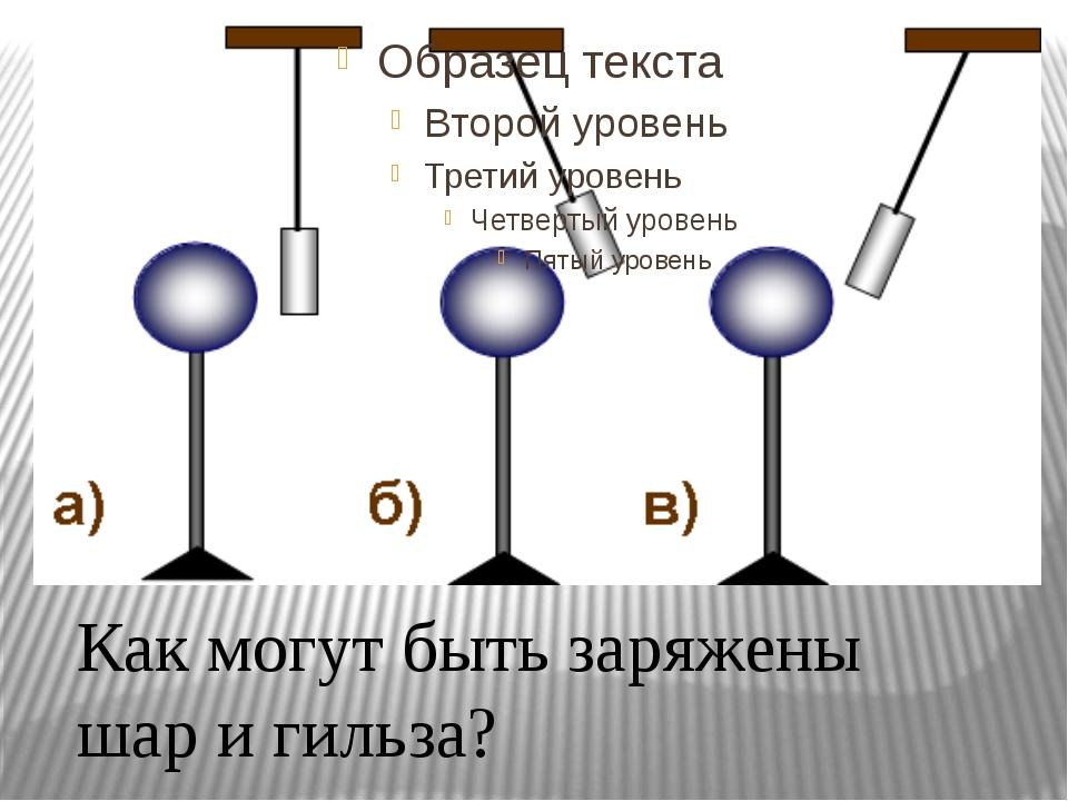 Как могут быть заряжены шар и гильза?