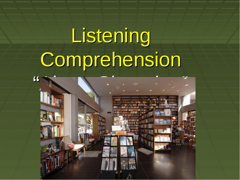 "Listening Comprehension ""About Shopping"""