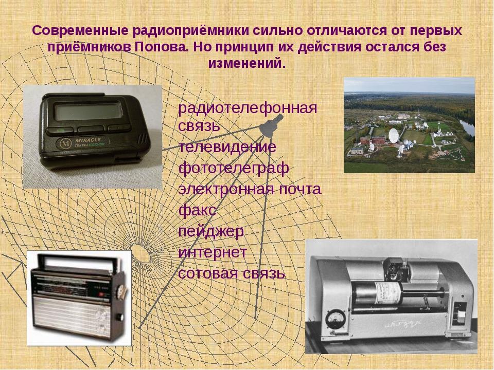 Современные радиоприёмники сильно отличаются от первых приёмников Попова. Но...