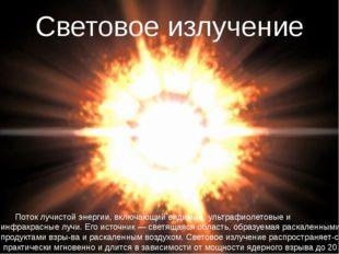 Поток лучистой энергии, включающий видимые, ультрафиолетовые и инфракрасные