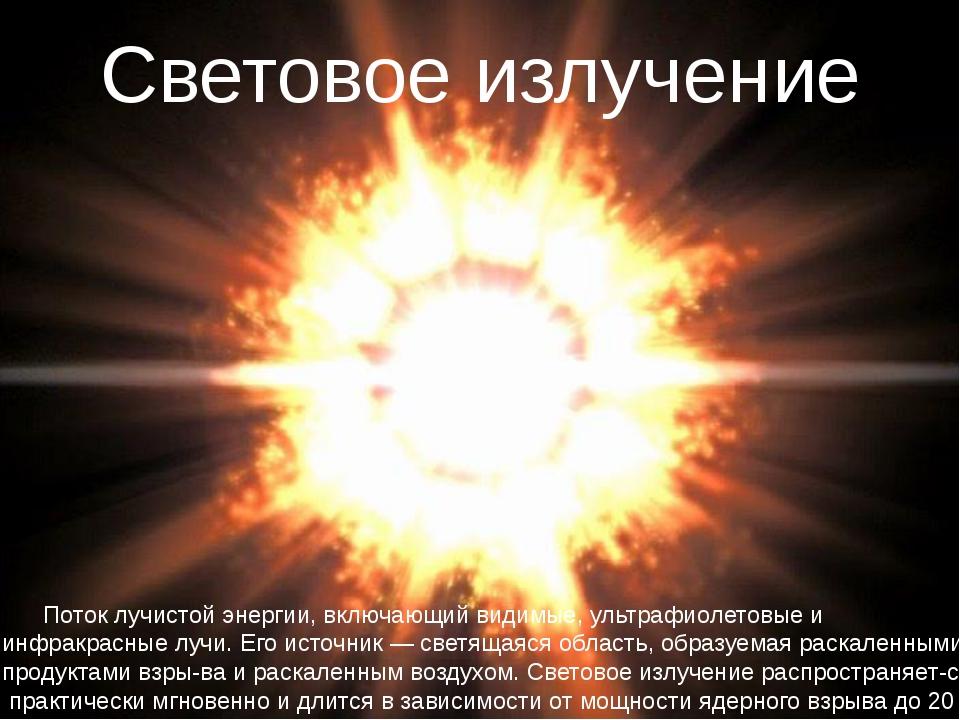 Поток лучистой энергии, включающий видимые, ультрафиолетовые и инфракрасные...