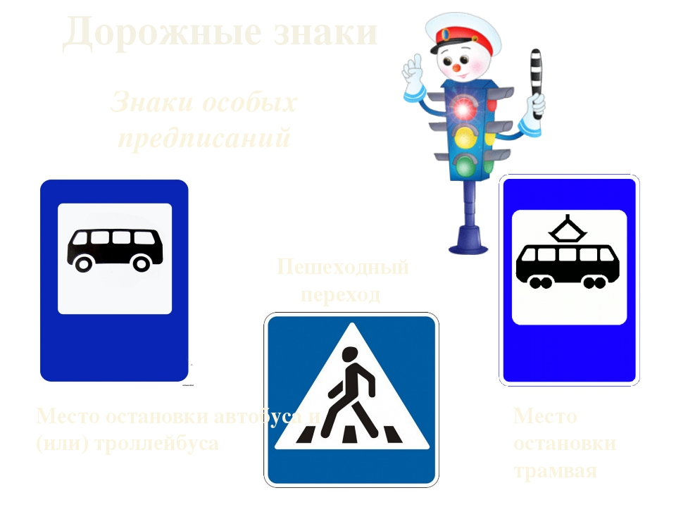Дорожные знаки Знаки особых предписаний Пешеходный переход Место остановки тр...