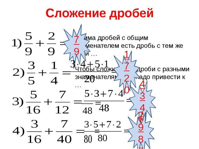 Выбери лепесток с определенным действием 5.Все действия 3.Сложение дробей 4.В...